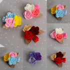 4Pcs/Lot Baby Kids Girls Rose Flower Barrettes Hair Clips Hairpins Accessory