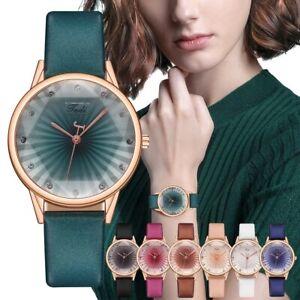Ladies Womens Watches Quartz Analogue Casual Wrist Watch Fashion Faux Leather UK