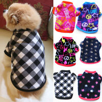 Small Pet Dog Warm Fleece Vest Clothes Coat Puppy T-Shirt Sweater Winter Jacket