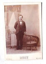 Vintage Antique Black & White 1890s Man (Windsor Missouri) J. McAllister Photo