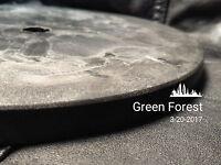 "6"" Master Lap Disc Backing Support plastic Lapidary Faceting Diamond 1/2""arbor"