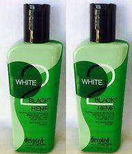 2 Devoted Creations White 2 To Black Hemp Dark Bronzer Tanning Bed Lotion 8.5 oz