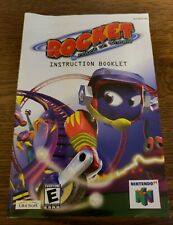Rocket Robot On Wheels Instruction Manual N64 Nintendo 64 Authentic Booklet RARE
