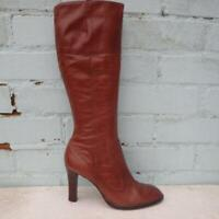 River Island Leather Boots Size UK 5 Eur 38 Womens Shoes Brown Boots