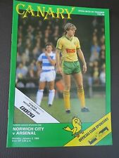 Norwich    V Arsenal 1983/4