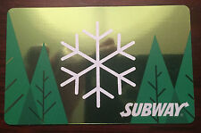 "SUBWAY CANADA 2016 GIFT CARD ""GREEN FOREST SNOWFLAKE"" HOLIDAY NO VALUE NEW!!!!!!"