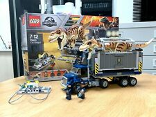 LEGO Jurassic World T. Rex Transport 75933 100% Complete w/Box+Manuals