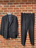 """Jos A Bank Mens 2 Piece Suit Size 41R Wool 2 Button Pants 35x30"""" Blue Blazer"""