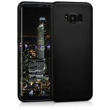 kwmobile TPU Schutz Hülle für Samsung Galaxy S8 Plus Metallic Schwarz Case Soft