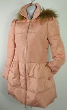 Oushiliren girl's size 2 insulated puffer jacket pink peach faux fur hooded coat