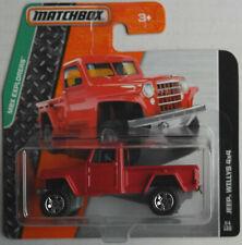 Matchbox Jeep Willys 4x4 Pickup rot Neu/OVP Geländewagen Allrad Auto Car Mattel
