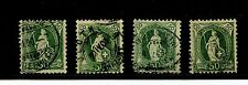 Switzerland #96 X (4) (SW902) Large Numerals 50c green P-11 1/2 x 11,U,CV$110.00