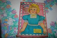 "VINTAGE 1958 SAALFIELD ""SUE"" A JUST LIKE ME PAPER DOLL PLAY SET in ORIGINAL BOX"