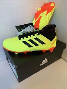 Adidas Predator 18.3 FG Boys Soccer Cleats Yellow/Black DB2319