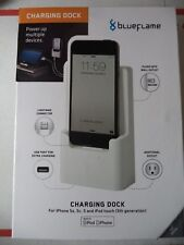 BLUE FLame Charging Dock for iPhone 5 5S 5C iPod touch 5th Generation NEW IN BOX