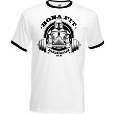 Gym T-Shirt Boba Fett Fit Mens Bodybuilding Star Wars MMA Top