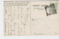 great britain 1906 vase of flowers mablethorpe cancel stamps card ref 21354