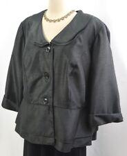 81bbf3fccbd Dana Kay evening top Jacket Blazer suit coat silky shimmer ruffle 3 4 18W  NEW