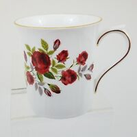 Red Roses Royal Crest Fine Bone China Mug Cup England Hand Painted