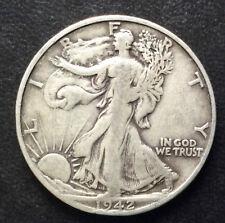 1942-S Liberty Walking Half Dollar Silver U.S. Coin A4178
