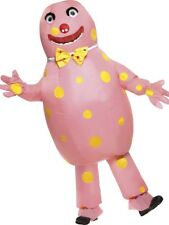 Mr Blobby Costume Pink with Inflatable Suit & Gloves Mens Licensed One Size