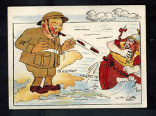 Mint WW2 England Anti Nazi Propaganda Postcard Reppeling the Hun Invaders