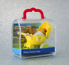 Sylvanian Families Calico Critters Waddlington Baby Duck & Yellow Egg Pram