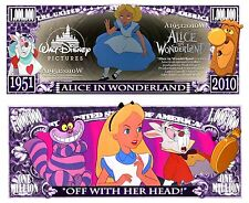 ALICE IN WONDERLAND Novelty Dollar with Semi Rigid Protector and Free shipping