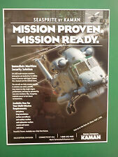 2000'S DOCUMENT A4 RECTO KAMAN AEROSPACE SH-2G SEASPRITE HELICOPTER SAR ASW