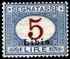 Colonie Italiane Libia 1915 Segnatasse n. 10g * varietà decalco cifra (m2209)