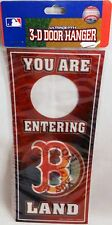 Boston Red Sox 3-D Door Hanger  YOU ARE ENTERING BOSTON RED SOX LAND