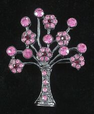 Pink Crystal Tree Pin