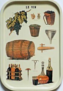 Plateau Metall Werbung Vintage - Der Vin - 39 X 26 CM