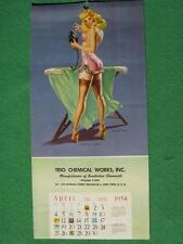 April 1954 Vaughan Bass Pinup Girl Calendar Art Brooklyn New York Rare Oldie WOW
