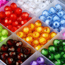 672 PCS Mix Color  8mm Acrylic Spacer Round Beads Jewelry Making DIY &Box Set