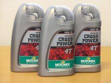 15,70€/l Motorex Cross Power 4T 10W/50 3 x 1 L vollsyn 4Takt OffRoad Motoröl