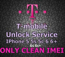 T-Mobile USA Factory Unlock Service iPhone  5s 5c 6 6+ 6s 6s+ SE 7 7+Clean ONLY