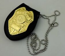 TACTICS COOL RESIDENT EVIL BADGE STARS RACCOON POLICE BADGE HOLDER GOLDEN