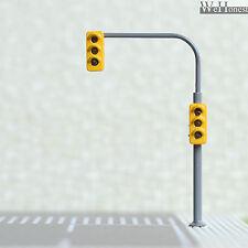 2 x traffic lights HO OO crossing walk model train led street signals #B3C3RHOR