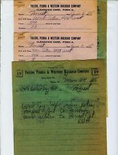 TOLEDO,PEORIA & WESTERN TP&W TRAIN ORDERS  (20)  FORREST, ILLINOIS  ALL 1965.