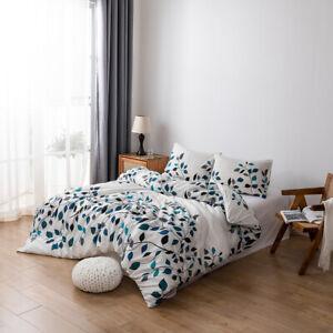3pcs Duvet Cover Printed Quilt Cover Bedding Set Pillow Case Twin/Queen/King