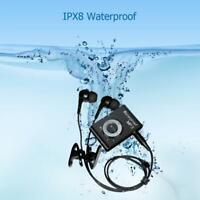Waterproof Swimming MP3 Player Stereo Music Sports MP3 Walkman w/FM Radio Clip