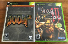 House of the Dead III & Doom 3 Microsoft Xbox OG Lot Complete