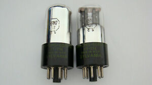 PAIR OF 1945 SYLVANIA VT-231 6SN7GT TESTED ON AMPLITREX