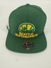 RARE 7 1/2 Seattle SuperSonics Snap Back Hat Hardwood Classic Mitchell and Ness.