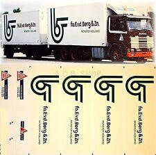 Scania - fa.E.v.d. Berg & Zn. Olanda (NL) 1:87 camion decalcomania autocarro