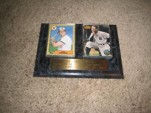 Vintage The Iron Men Plaque framed cards of Cal Ripken & Lou Gehrig
