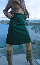 VINTAGE Boho 1960s Original  Groovy Green Retro Skirt
