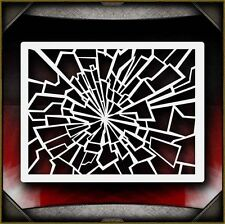 Shattered Glass 2 Airbrush Stencil Template Paint Airsick