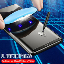 Full Glue UV Screen Protector Samsung Note 10 9 8 S8 S9 S10 S20 Tempered Glass